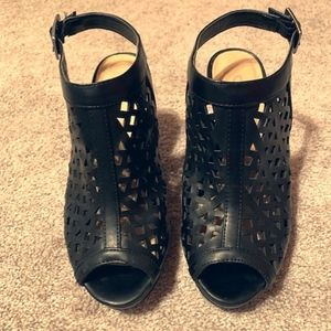 CL by Laundry black heels, size 6.5